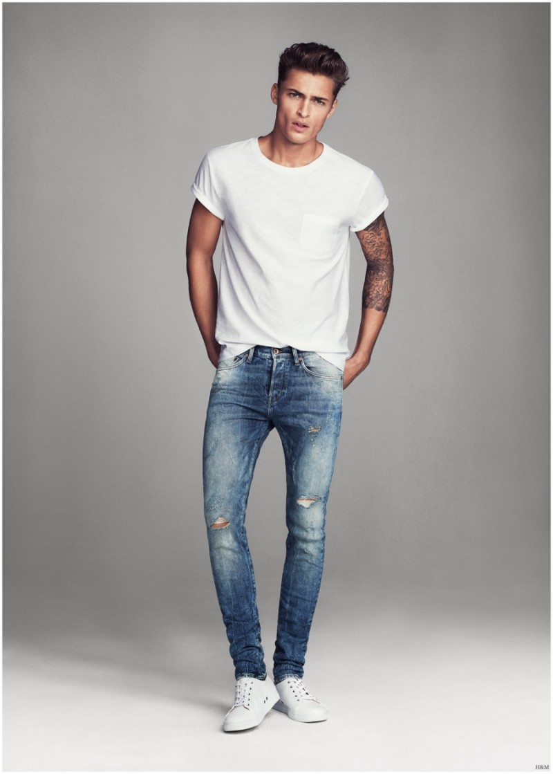 Harvey haydon models super skinny denim jeans for h m men - Hm herren jeans ...