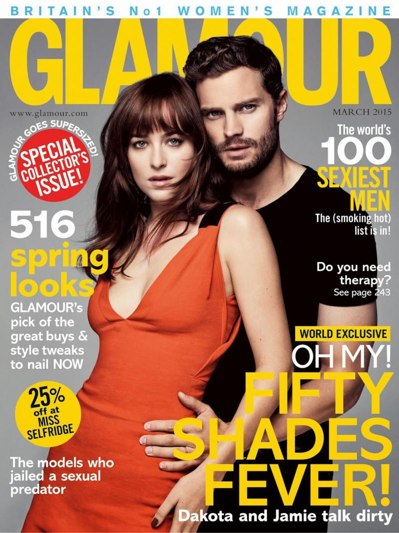 Jamie Dornan and Dakota Johnson for Glamour UK March 2015