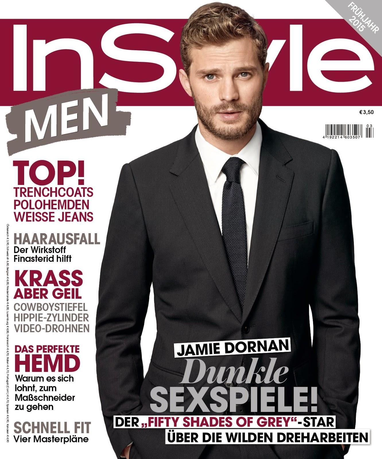 Jamie Dornan 2015 Covers: Vanity Fair Italia, DT, InStyle Germany & Glamour UK