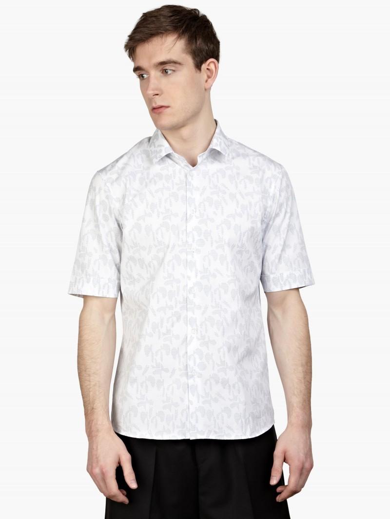 Jil Sander White Print Shirt