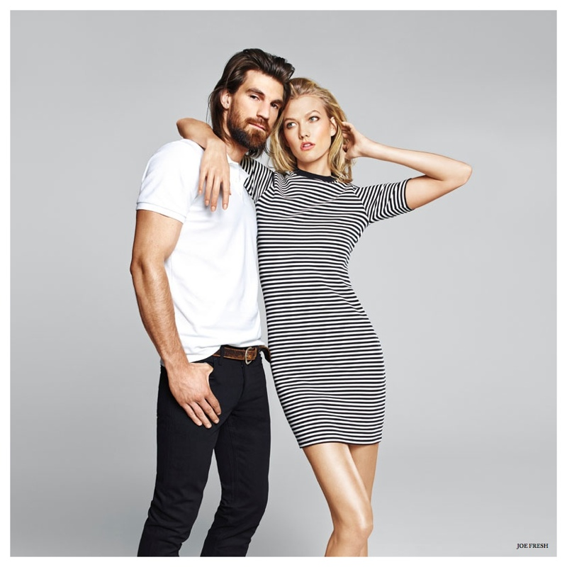 Henrik Fallenius Joins Karlie Kloss for Joe Fresh Spring/Summer 2015 Campaign