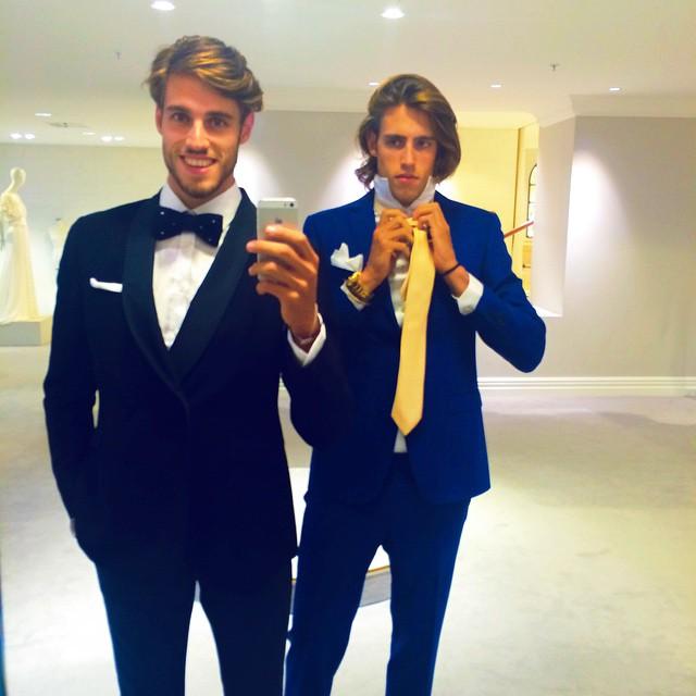 Jordan and Zac Stenmark prep for the red carpet