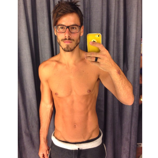 Does Lucas Bernardini look smart chic in his glasses?