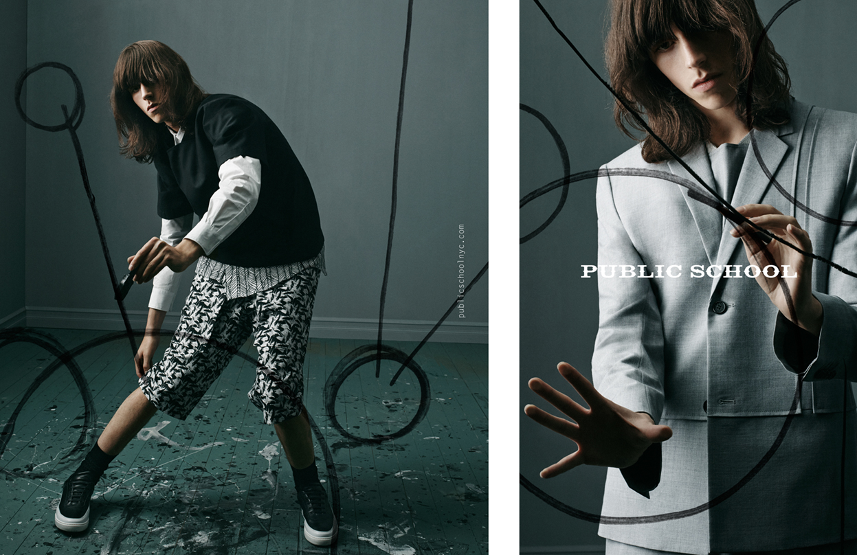 Public School Spring 2015 Ad Campaign Inspired by David Bowie's Isolar Tour