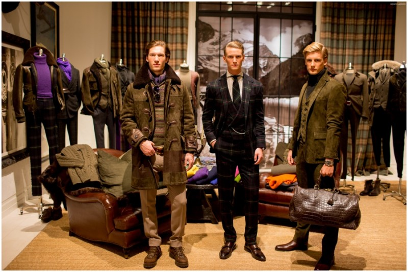 358b626a1dcc5 Models wear looks from Ralph Lauren Purple Label s fall-winter 2015  menswear collection.