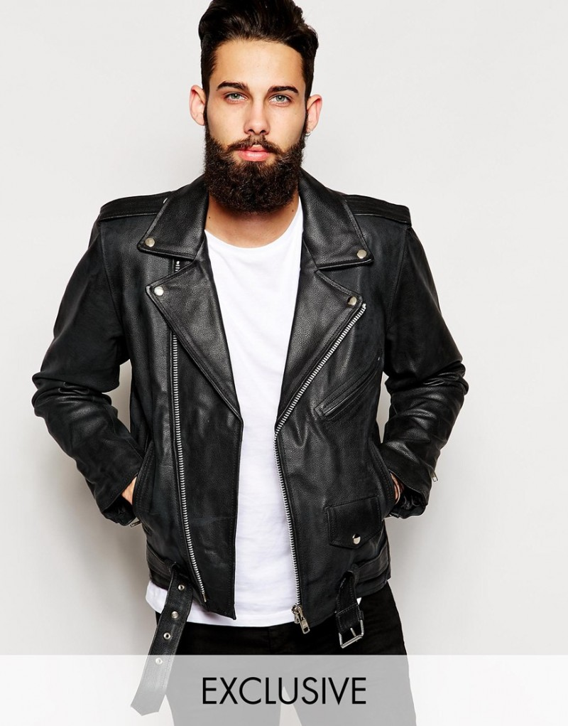 Men's Black Leather Biker Jackets: Spring 2015 Edition