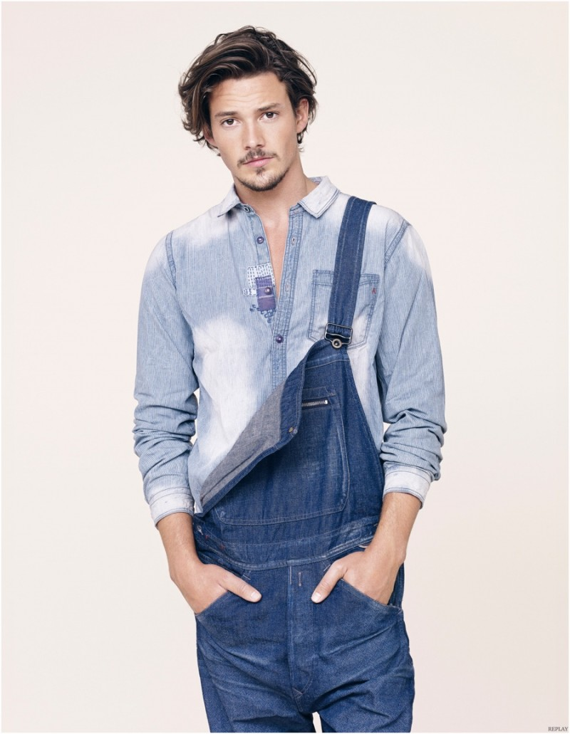 0a3002da2607 Spring 2015 Denim Trend Heats Up  Replay Embraces Men s Denim ...