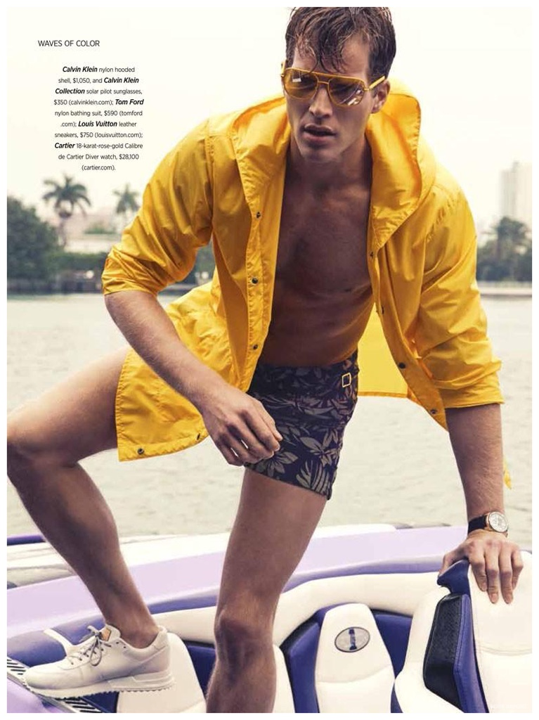 Waves of Color: Geoffroy Jonckheere Models Sporty Spring Fashions for Robb Report