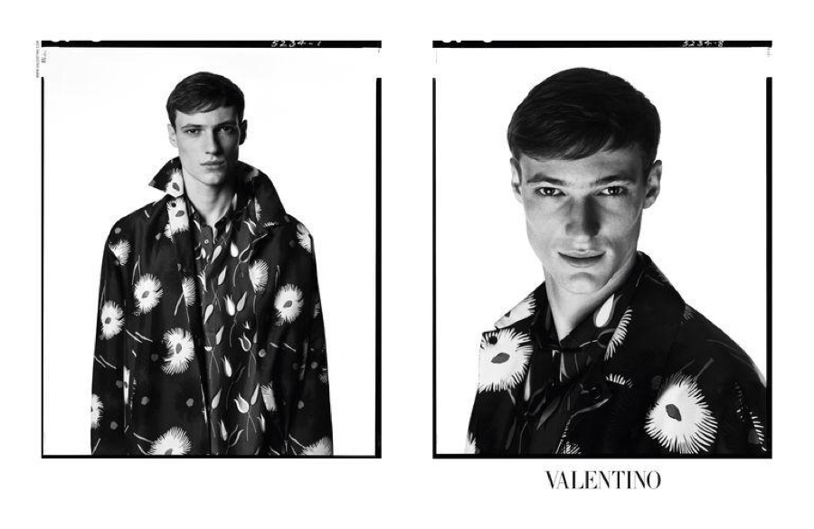 Valentino Highlights Prints & Embroidered Designs in Spring/Summer 2015 Menswear Campaign