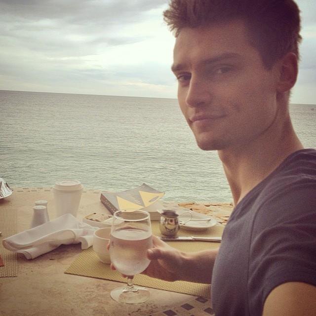 Vladimir Ivanov relaxes beachside
