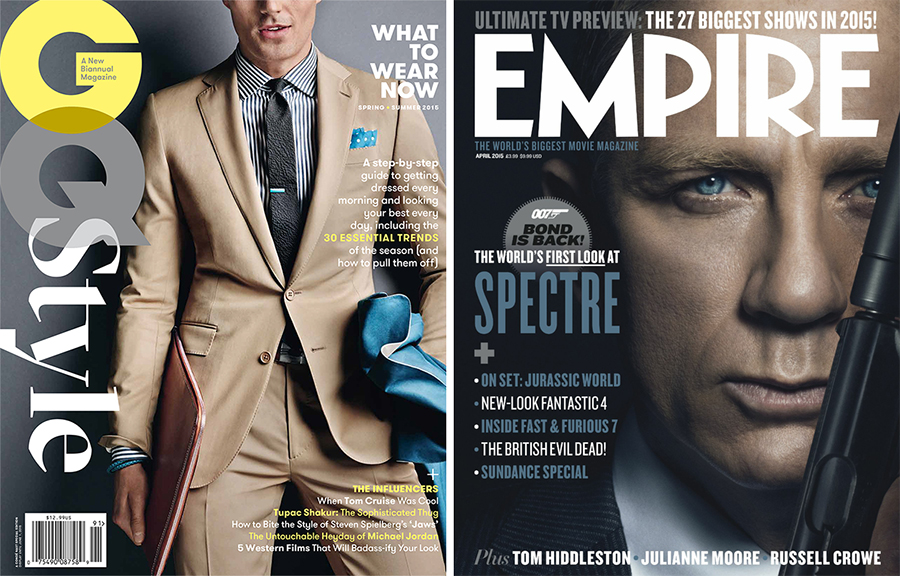 Cover Fix: GQ Style, 007 for Empire, Alexander Wang + More