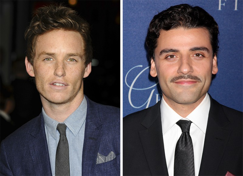Left to Right: Eddie Redmayne, Oscar Isaac.