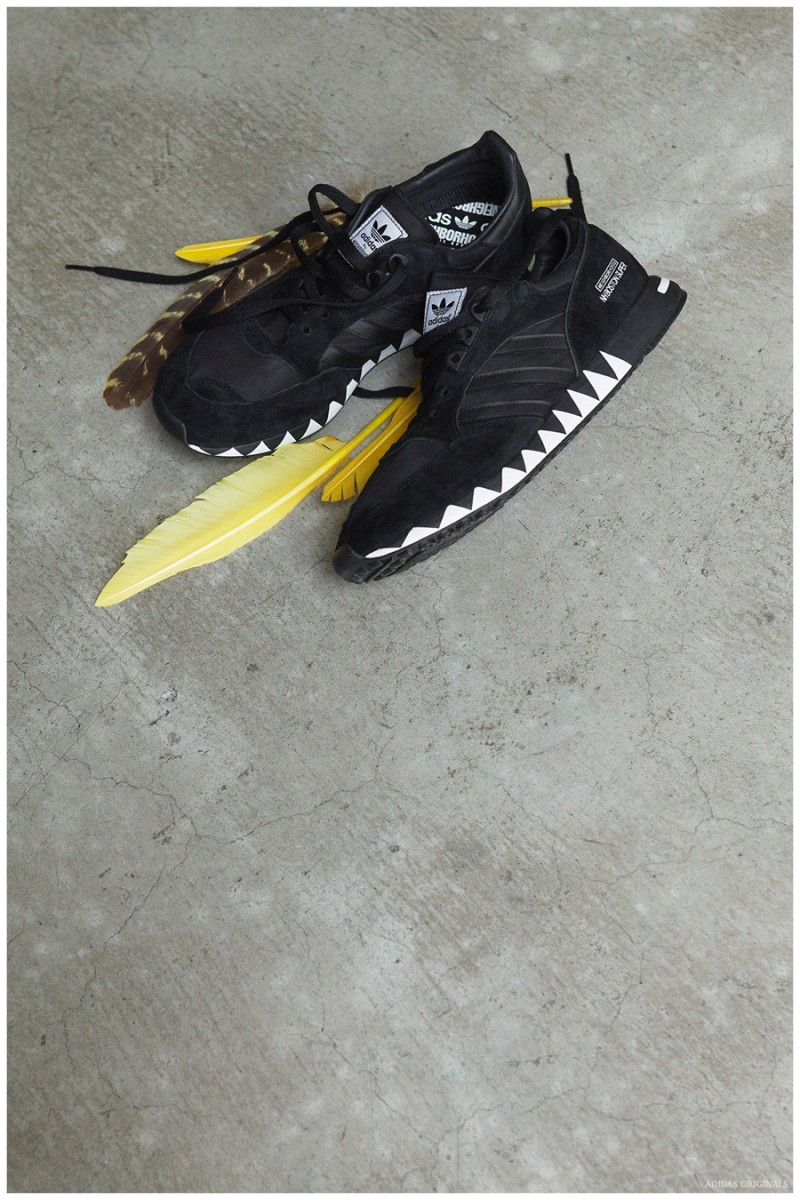 The Boston Super sneakers offer a subtle, graphic edge.