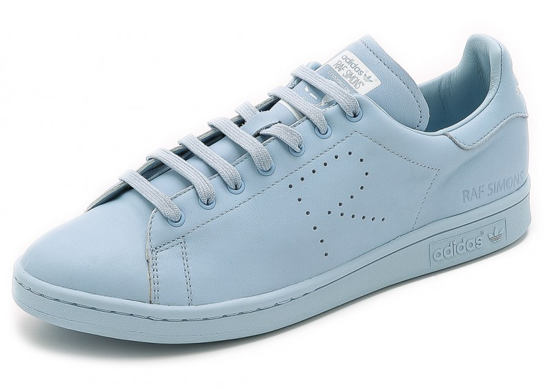 Adidas x Raf Simons Stan Smith Sneakers in White/Clear Sky