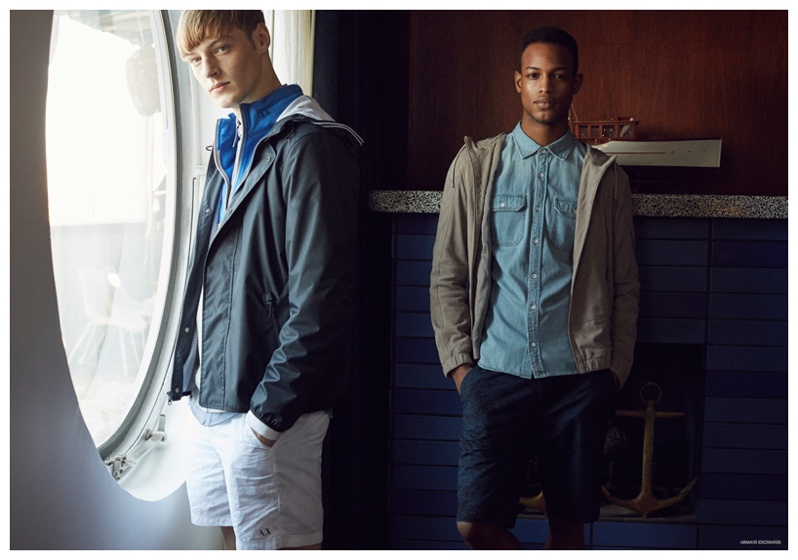 Armani Exchange Highlights Cool Weather Spring Men's Styles