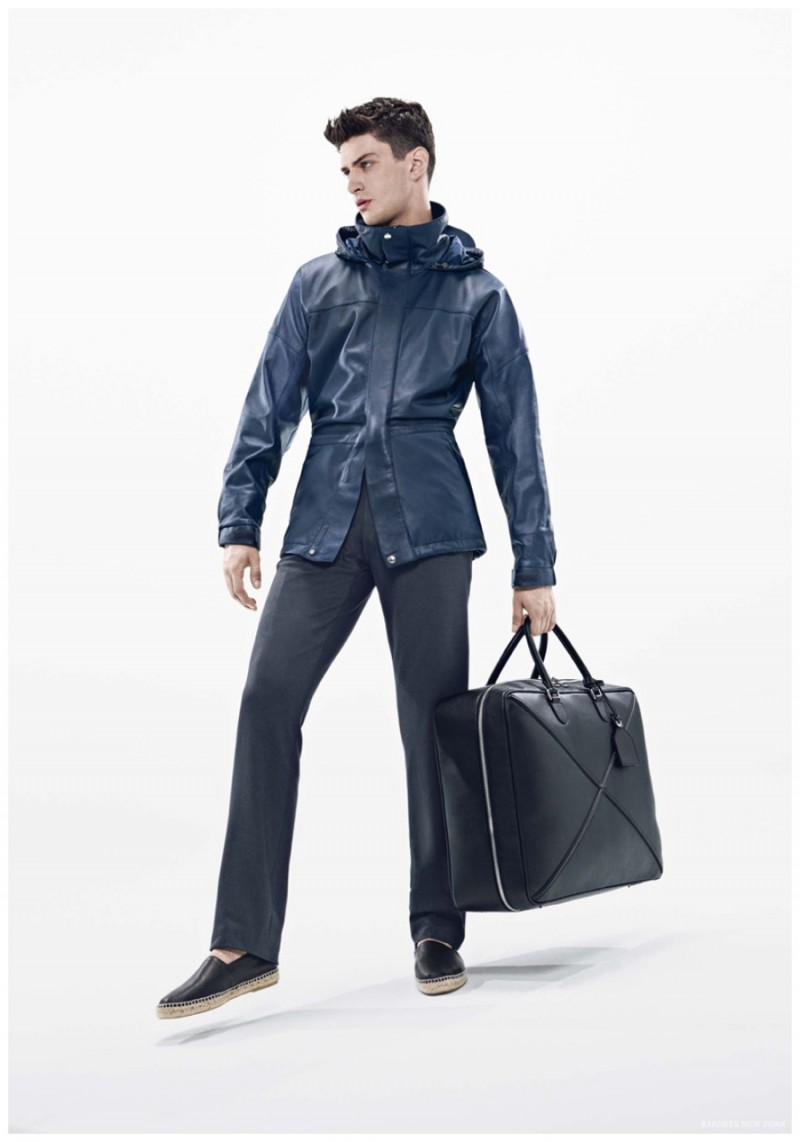 Matthew Bell is ready for spring in Loewe.