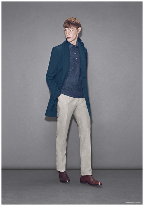 Roberto Sipos wears a sportswear ensemble from Luciano Barbera.