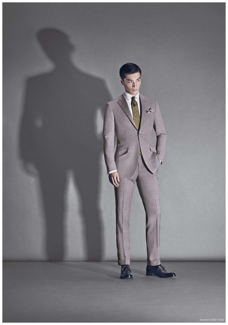 Daisuke Ueda cleans up in a tailored suit from Richard James.