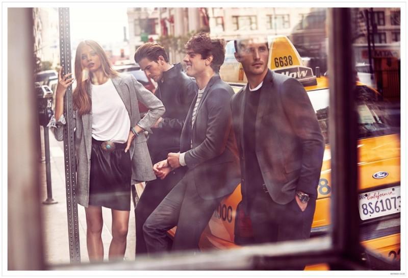 Adam Senn, Evandro Soldati and Ollie Edwards join Anna Selezneva for Beymen Club's spring-summer 2015 advertising campaign.