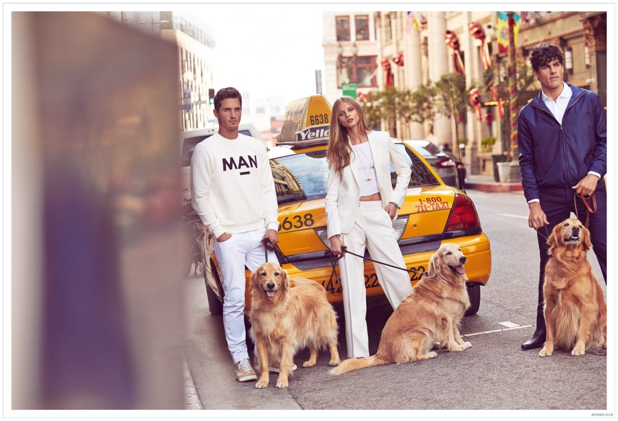 Ollie + Evandro Pose with Dogs for Beymen Club Campaign