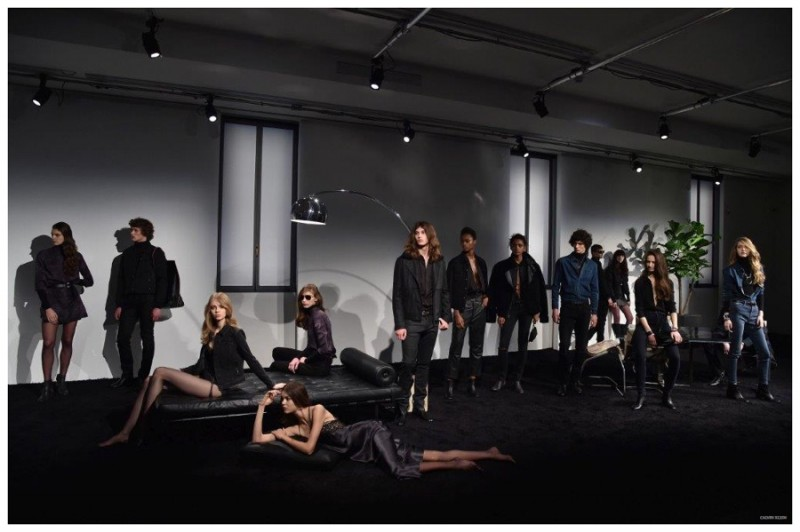 Calvin Klein exudes sex and rock 'n' roll glamour for its fall-winter 2015 presentation.