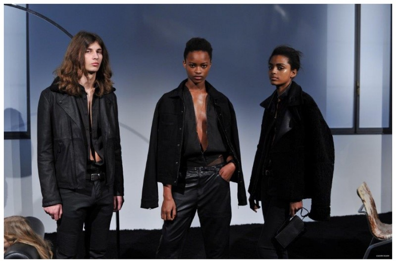 Black on black provides a simple, chic ease for Calvin Klein.