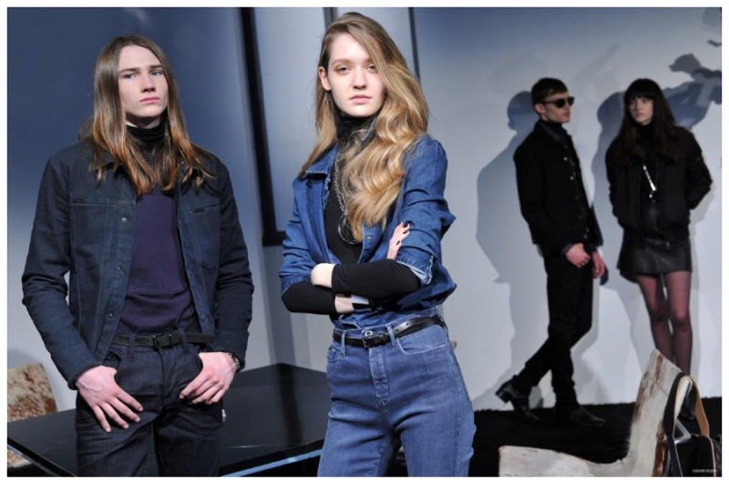 Models showcase the latest from Calvin Klein Jeans.