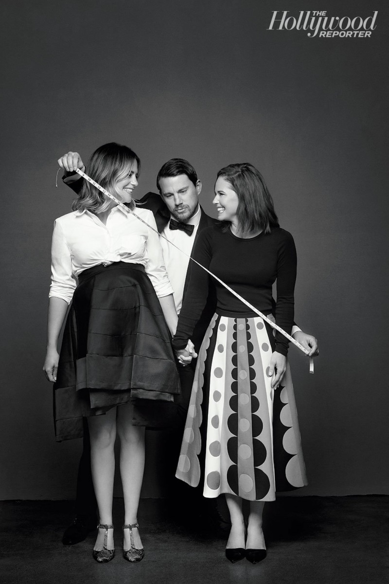 Channing Tatum poses for a silly image with Wendi and Nicole Ferreira.