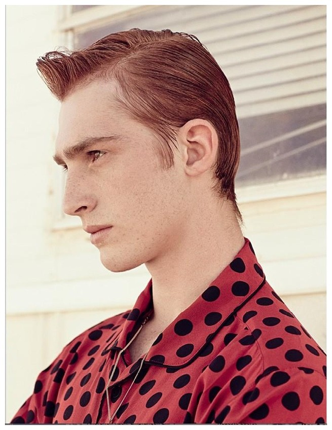 Charlie Ayres Taylor Models Spring Fashions for GQ Style Germany