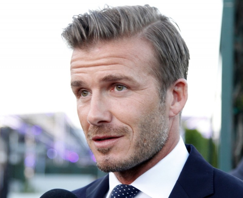 Cleaning Up For A Formal Look David Beckham Slicks His Hair Back With Side