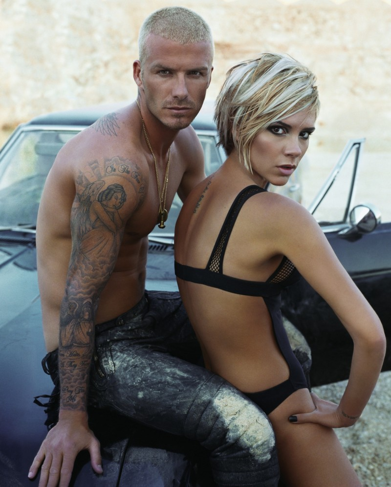 David Beckham and his wife Victoria are blondes for W magazine's August 2007 cover shoot lensed by Steven Klein and styled by Camilla Nickerson. David sports a bleached blond super short hair style.