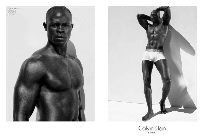 Actor Djimon Hounsou starred in a Calvin Klein Underwear campaign in 2007. Captured by Peter Lindbergh, the star wore branded designs for the advertisements.