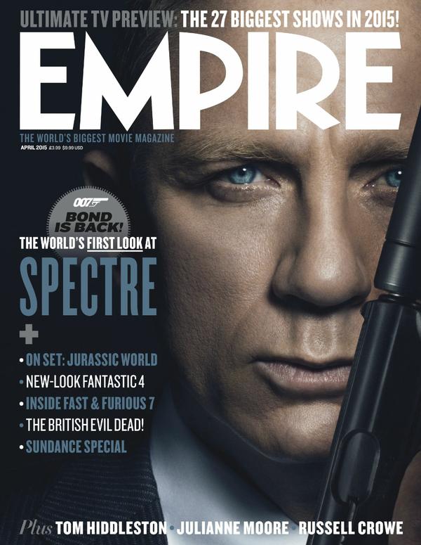 Daniel Craig is captured as James Bond for Empire magazine's April 2015 cover.