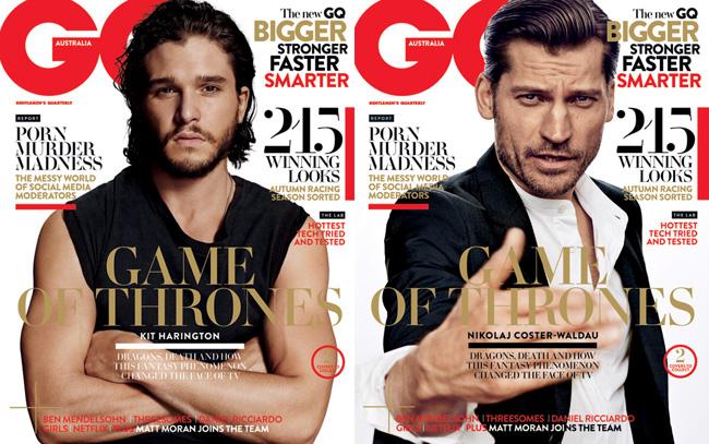 Who Has the Best Cover? Kit Harington + Nikolaj Coster-Waldau Cover GQ Australia