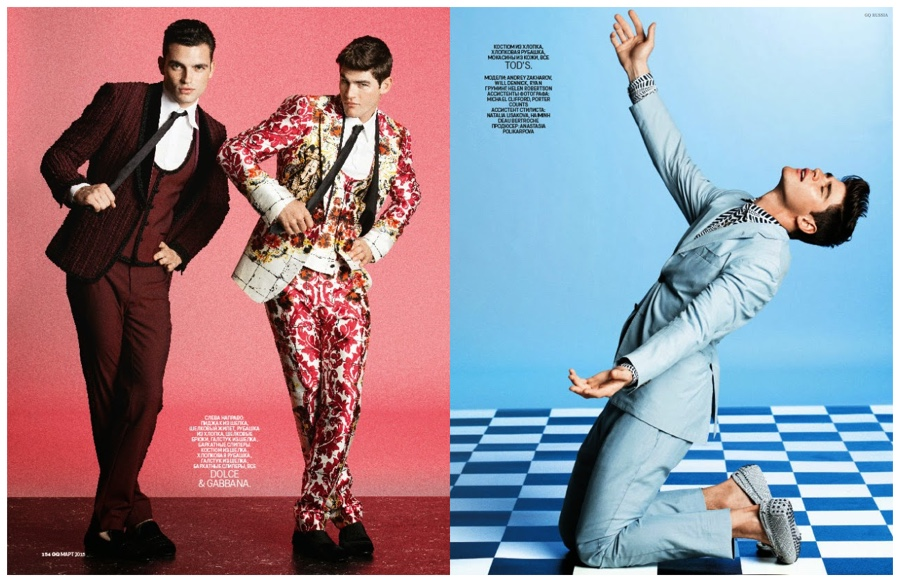Ryan, Andrey & Will Get Campy for Spring Fashion Shoot