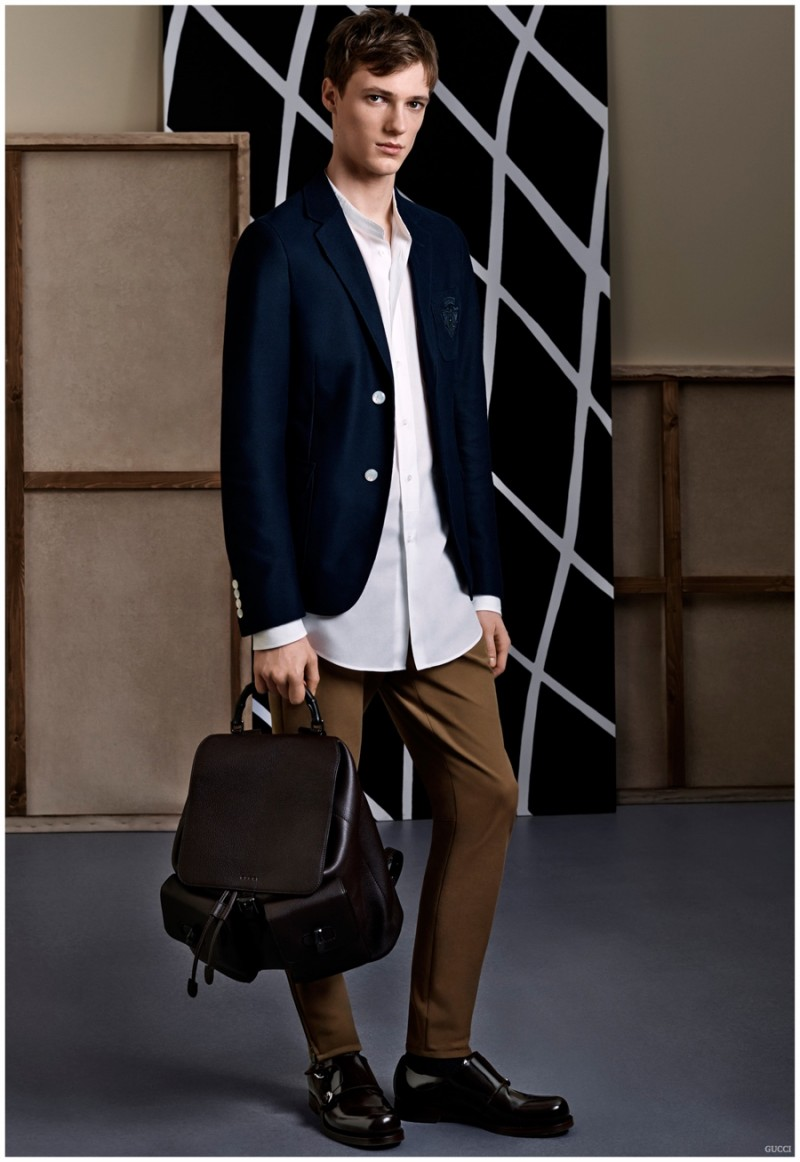 Elegant tailoring comes together with simple lines and minimal details.