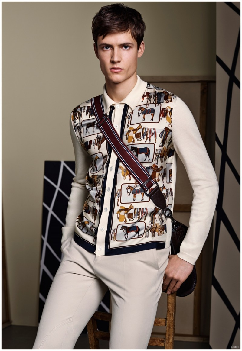 For the equestrian at heart, fitted knitwear is adorned with a charming horse print.