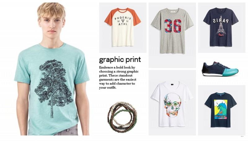 H&M Graphic Print T-Shirts