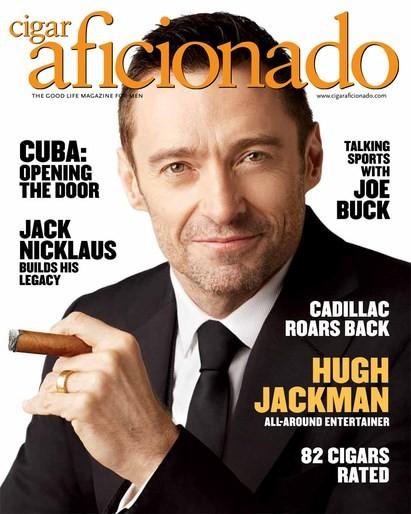 Hugh Jackman Covers Cigar Aficionado