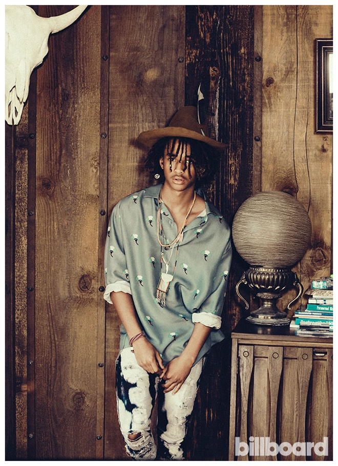 Jaden Smith Wears More Than One Pair of Shoes for Billboard Shoot