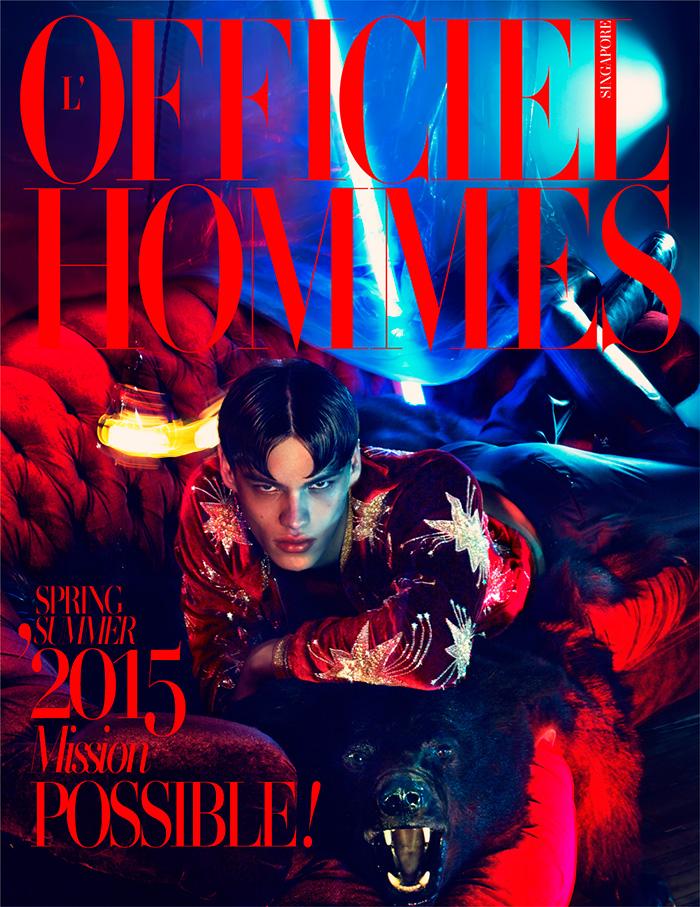 Filip Hrivnak Covers L'Officiel Hommes Singapore + Appears in Vogue Hommes Paris