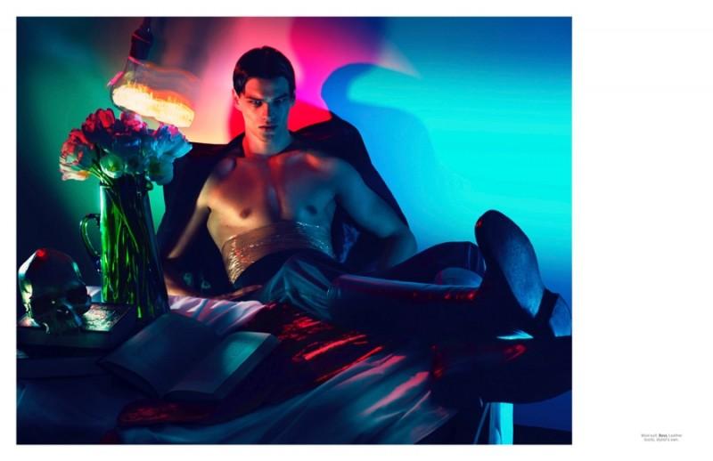 Filip Hrivnak relaxes in a BOSS by Hugo Boss suit.
