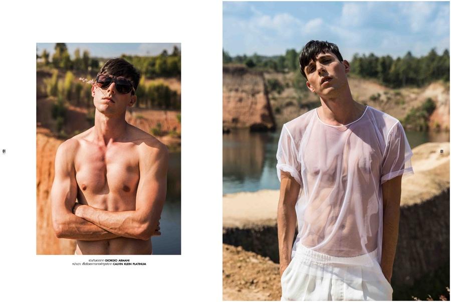 Matt Corrias Models Spring Styles for L'Officiel Hommes Thailand