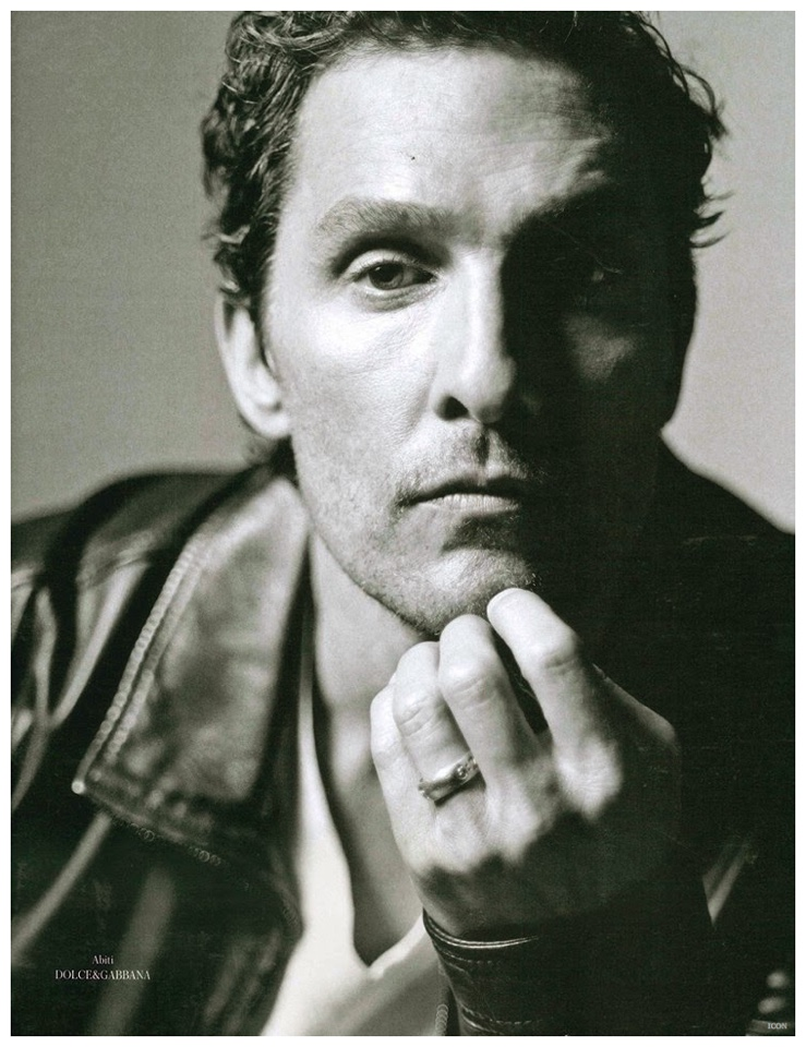 Matthew McConaughey poses for a close-up.