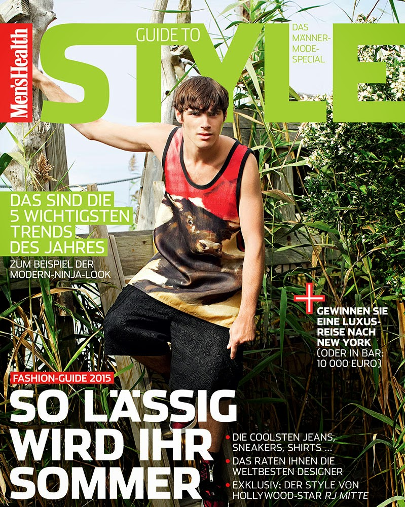 c28e5b48aad RJ Mitte covers the March 2015 edition of Men s Health Germany Guide to  Style in a
