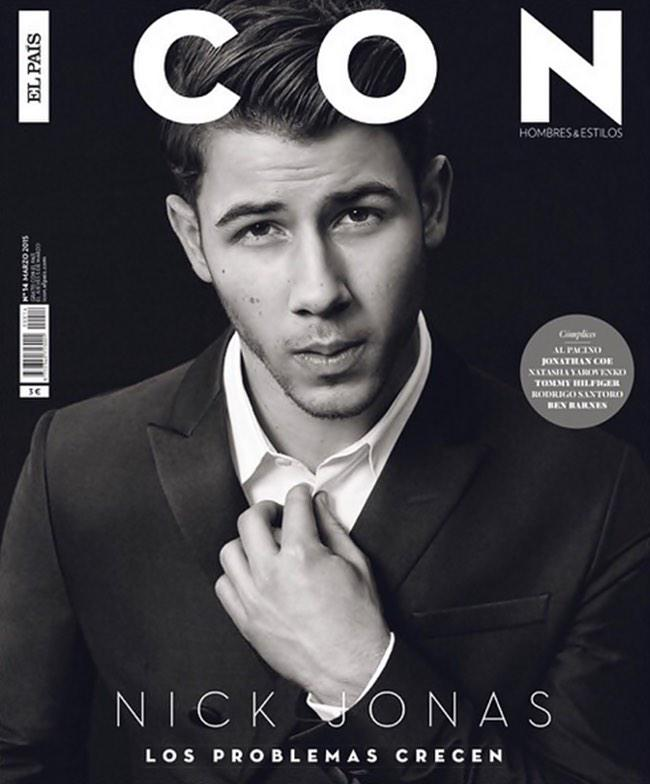 Nick jonas poses for a black s latest cover
