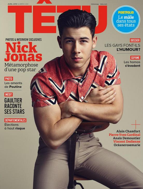 Nick Jonas covers Tetu magazine.