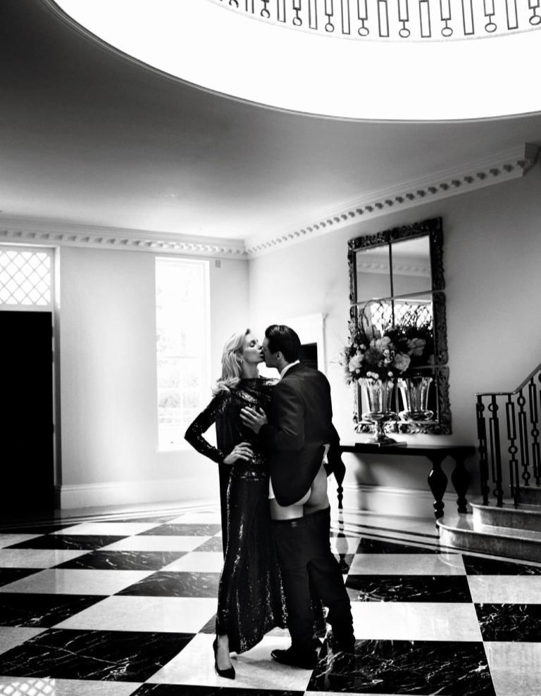 Nikolai Danielsen Joins Anja Rubik for Racy Vogue Paris Editorial