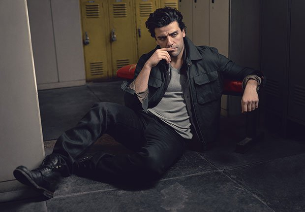 Oscar Isaac photographed by Mark Seliger with styling by Vanessa Chow.