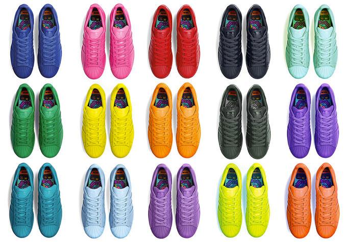 Pharrell x Adidas Originals Superstar Supercolor Pack
